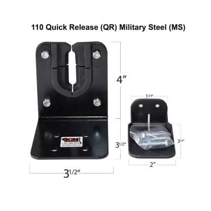110 Quick Release Military Grade Steel Gun Racks