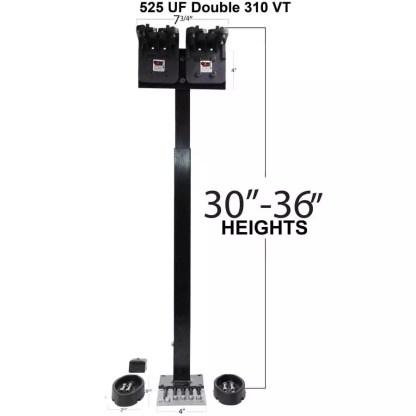 525UF Universal Floor Double Gun Rack with Rubber Butt