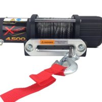 Tuff Stuff Xtreme 4500lb UTV Winch- Fully Waterproof, Synthetic Rope Wireless Remote & Universal Mount