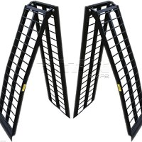 New 9 ft Aluminum Utv Wide Loading Ramps ranger rhino gator atv (108 -M2)