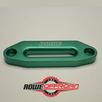 "Anodized Aluminum Hawse Fairlead for Synthetic Winch Rope 4 7/8"" (ATV UTV) (Green)"