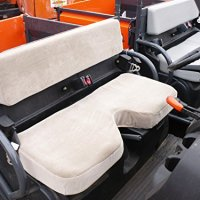Durafit Seat Covers Kubota RTV 500 Gray Endura Waterproof Seat Covers Bench seat with indent.
