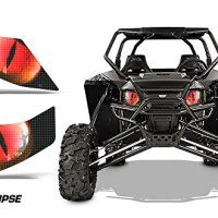 AMR Racing UTV Headlight Eye Graphic Decal Cover for Arctic Cat Wildcat - Eclipse Red