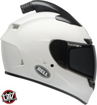 Bell qualifier dlx forced air side by side helmet gloss white right