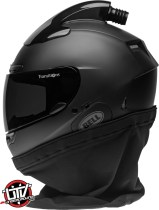 Bell qualifier dlx forced air side by side helmet matte black left