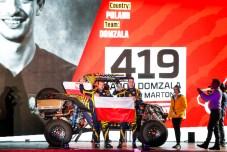 419 Domzala Aron (pol), Marton Maciej (pol), Can-Am, Domzala, SSV, action during the departure ceremony of the 2020 Dakar in Jeddah, Saudi Arabia on January 4, 2020 - Photo Julien Delfosse / DPPI