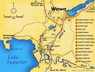wawa area map