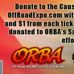 2012 LUCAS OIL OFF-ROAD EXPO ANNOUNCES THE OFF-ROAD BUSINESS ASSOCIATION (ORBA) AS CHARITY OF CHOICE