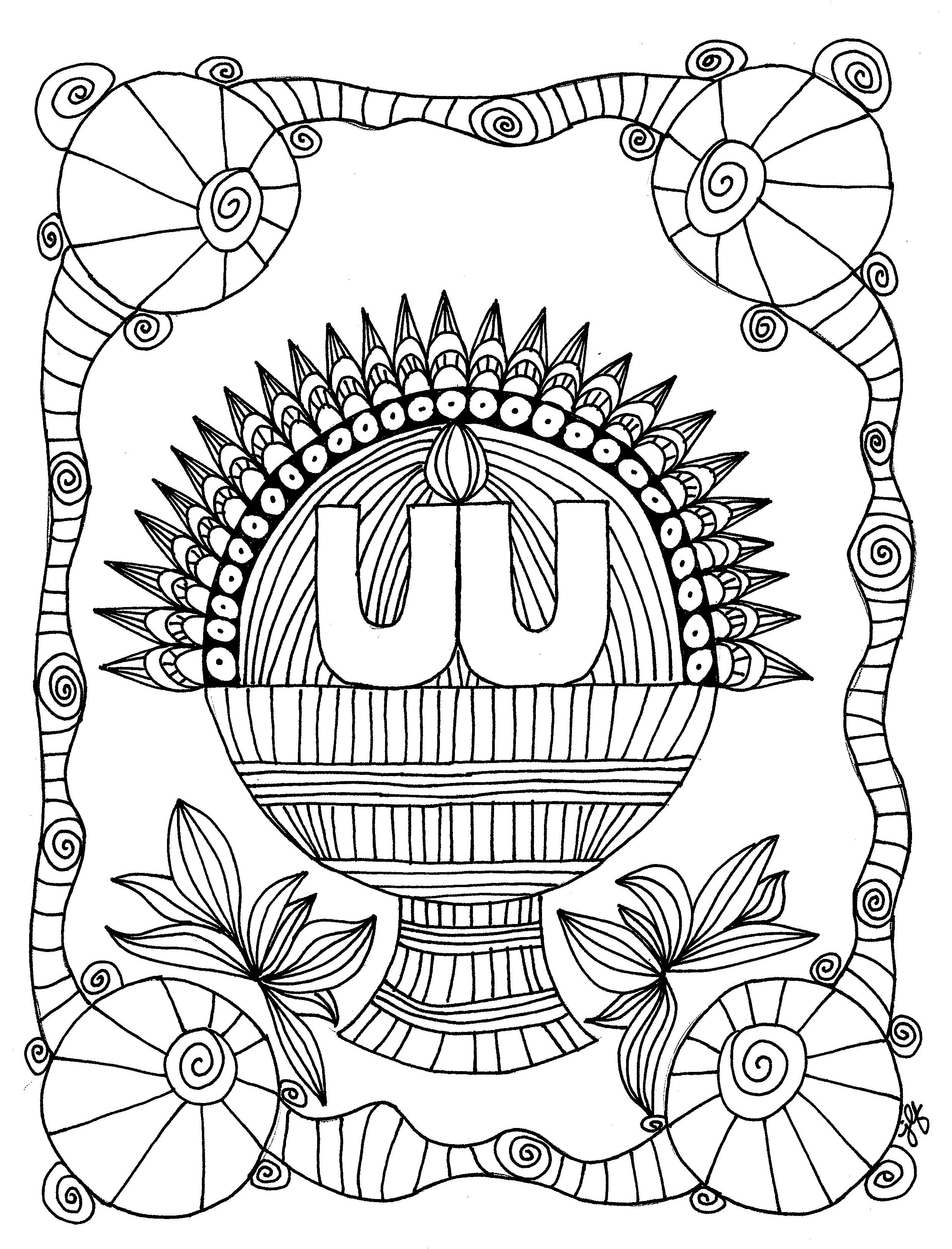 Harvest Basket Chalice Coloring Page