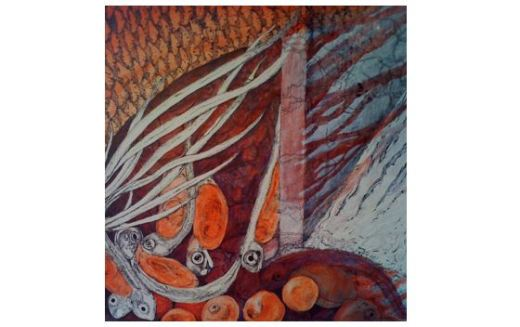 Damned - a salmon painting by Catherine Ruha