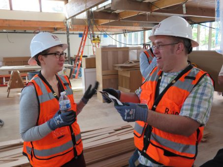 Nick and Melody at building site