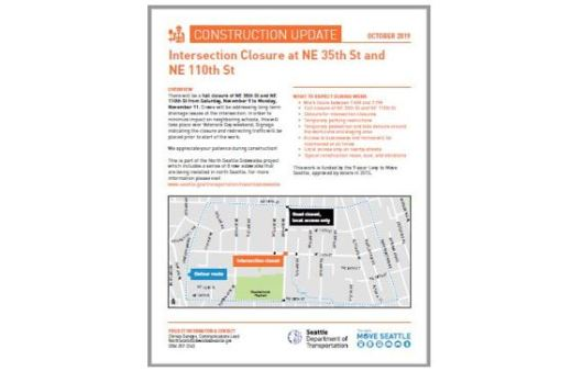 Intersection Closure flyer from the City of Seattle