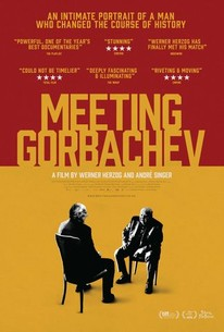 Poster for the documentary, Meeting Gorbachev