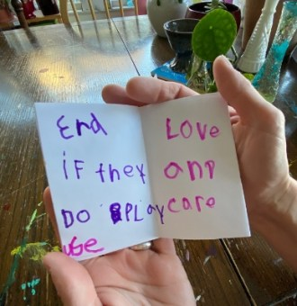 Friends zine: End - if they do play use love and care
