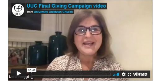 Opening shot of the UUC Final 2021 Giving Campaign video