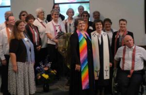 Catherine Massey and the choir