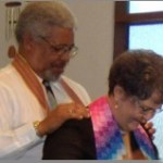 Music Director receiving her shawl