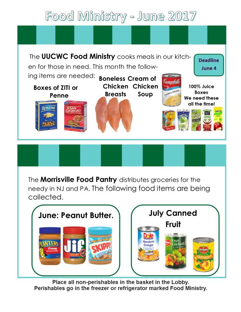 Food Ministry June 2017