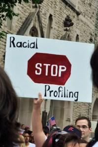 Racial Profiling Sign