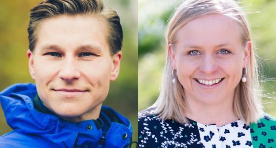 Elina Lepomäki ja Antti Häkkänen