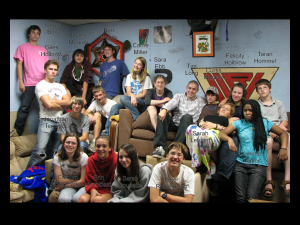 youth in activity room