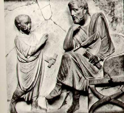 Maestro y discípulo (bajorrelive griego)