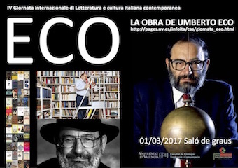 Cartel jornada Umberto Eco