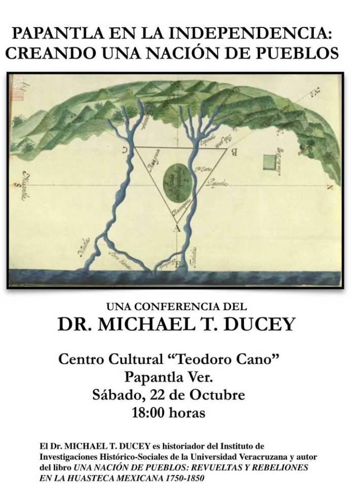 En la conferencia se abordará el tema de su más reciente libro, Una nación de pueblos: Revueltas y rebeliones en la Huasteca mexicana 1750-1850