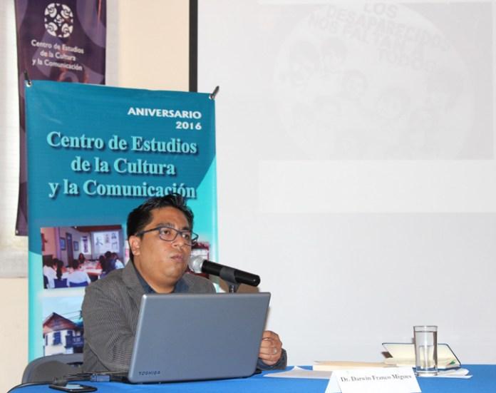 Darwin Franco Migues, académico de la Universidad de Guadalajara