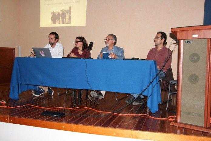 El ponente, Evodia Silva, Edgar González y Bruno Baronnet