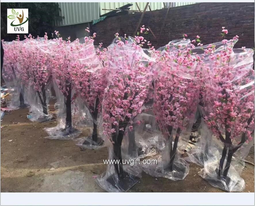 UVG 2m High Outdoor Pink Cherry Blossom Tree Fake With