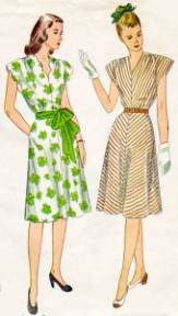 Women s Clothing   1940s   Clothing   Dating   Landscape Change Program Late 1940s Women s Fashions