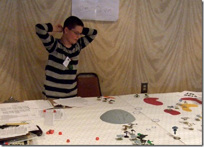 NatureBoy playing Star Fleet Battles at Carnage 2008