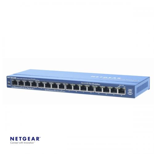 Netgear ProSafe FS116P 16-poorts switch met 8 x PoE