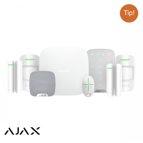 Ajax Hubkit LUXE WIT: GSM/LAN hub