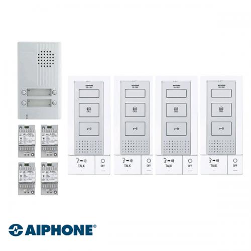 Aiphone Hands-free Audio set 4 appartementen (DB-1MD x 4