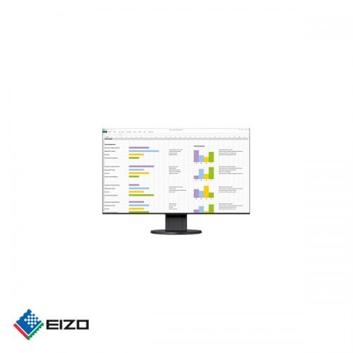 "Eizo FlexScan 24"" full HD professional IPS monitor Zwart"