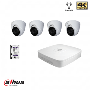 Dahua HDCVI kit: 4 kanaals DVR incl 1TB HDD