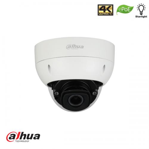 Dahua 8MP Motorized 2.7mm-12mm Pro AI IR Dome Network Camera met BNC aansluiting