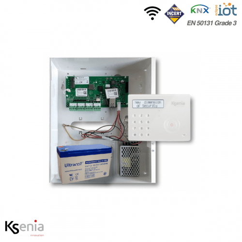Ksenia kit Hybride 40 zones  incl. keypad wit
