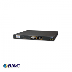 16-Port Gigabit 250M PoE + 2-upload port