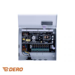 Voedingskast 9 uitgangen / DC12V 10A / backup accu optie
