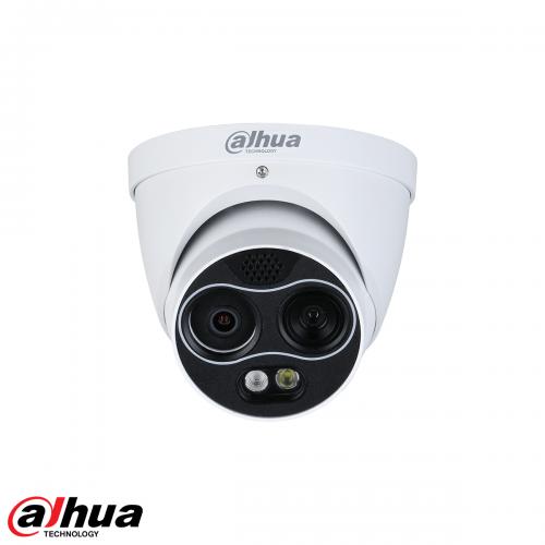Dahua 4MP Thermal 256x192 Network Mini Hybrid Eyeball Camera (Thermal: 3.5mm / Visual: 4mm)