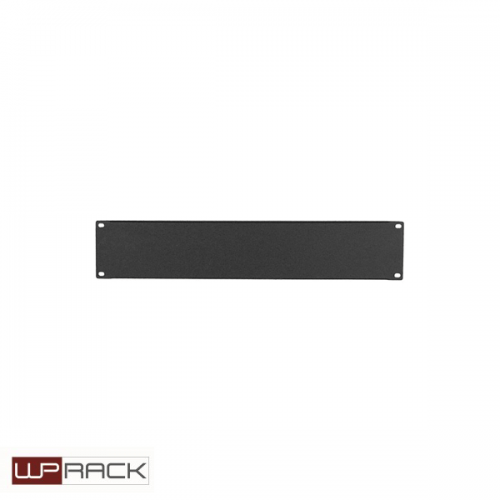 WP Blindpaneel 2HE zwart RAL9005