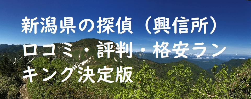 新潟県の探偵(興信所)口コミ・評判・格安ランキング決定版