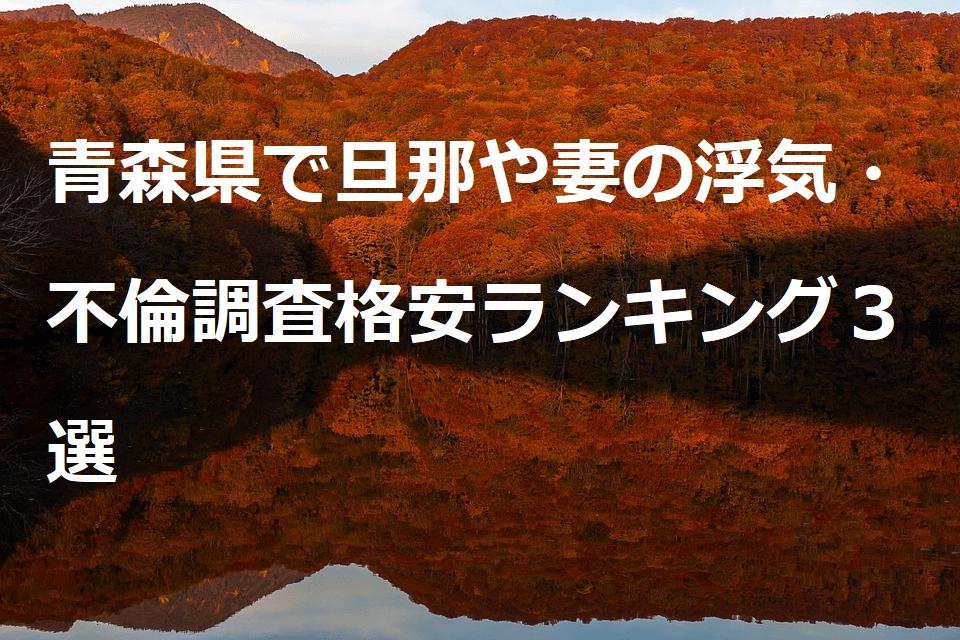 青森県で旦那や妻の浮気・不倫調査格安ランキング3選