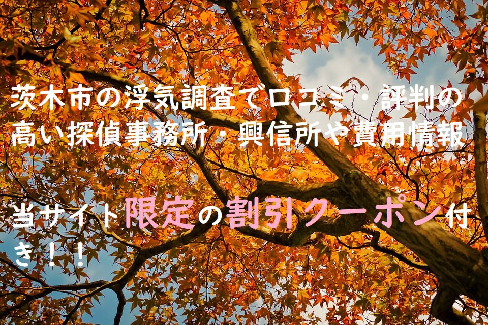 茨木市の浮気調査で口コミ・評判の高い探偵事務所・興信所や費用情報