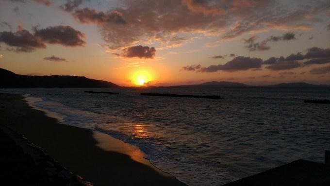 沖縄 海 夕日