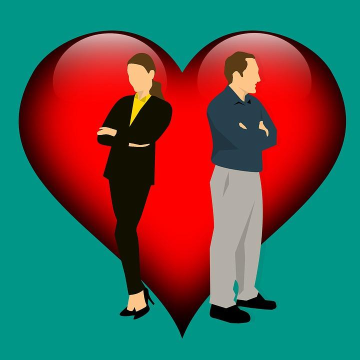 カップル - 関係 離婚 主張し 分離 関係の困難 女性 男性 悲しみ 競合 問題 不倫