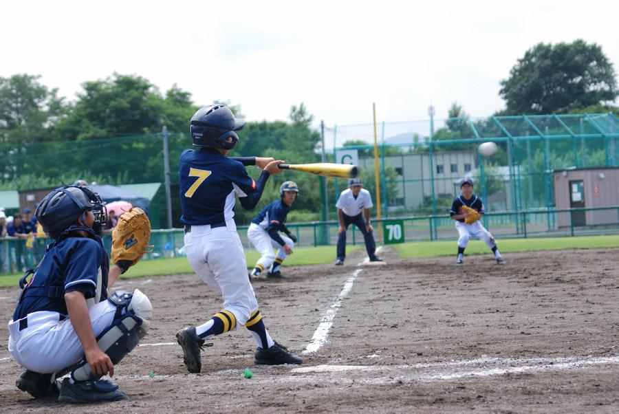 息子 野球 バッター ボール キャッチャー サード 野球場